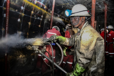 South African mining production plunged by half in April.