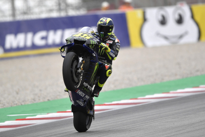 Valentino Rossi out of action after Covid-19 positive test.