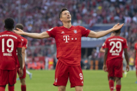 Lewandowski becomes first foreign player to score 33 goals in a Bundesliga season.