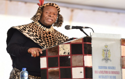 Zulu King Zwelithini in hospital for treatment of recurring diabetes.