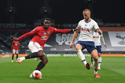 Paul Pogba on target as Red Devils enjoy record victory.
