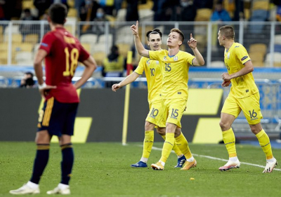 Tsygankov the hero as Ukraine beat Spain 1-0.