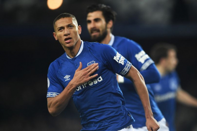 Rodriguez delivers masterclass as Everton go top with win over Brighton.