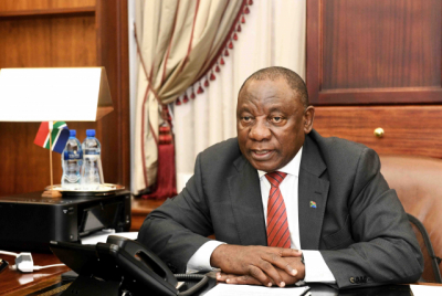 "Cyril Ramaphosa wishes SA a ""happy and healthy 2021""."