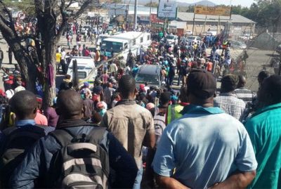 Chaos at Beitbridge Border as traffic continues to increase.