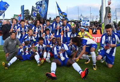 Porto clinched league title with 2-0 win over Sporting.