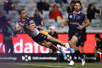 Brumbies survive late Rebels surge to win Super Rugby AU opener.