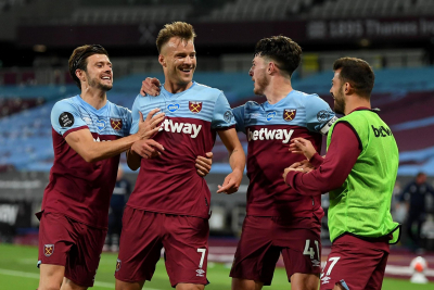 Hammers rise to fifth spot in the Premier League after a deserved victory over Leeds.