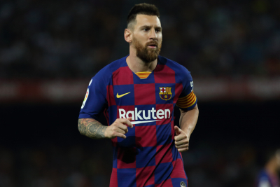 Messi equals Pele's record for most goals with one club.