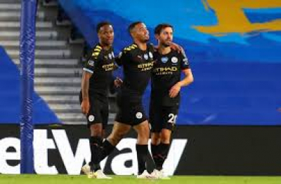 Mendy, Jesus earn Man City convincing win at Leicester to edge closer to title.