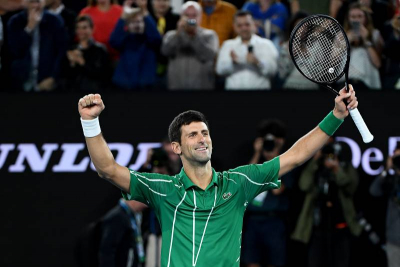 Djokovic beats Tsitsipas in five-set classic.