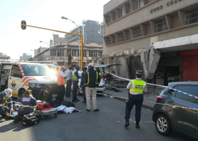 One dead, several injured after building collapse in the Durban CBD.