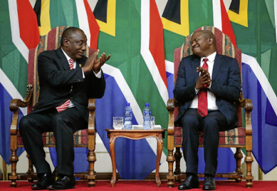 Ramaphosa pleased with progress in military veterans' discussions.