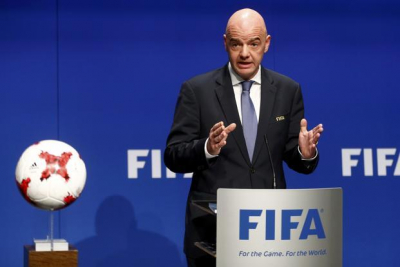 FIFA's President Gianni Infantino tests positive for COVID-19.