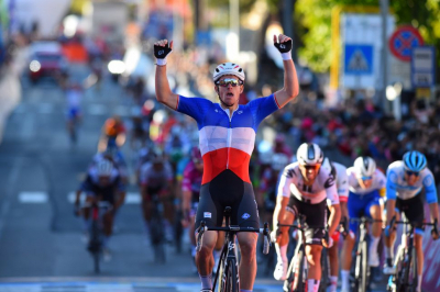 Arnaud Demare claims his fourth victory in sprint finish.