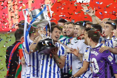 Real Sociedad win Copa del Rey over Athletic Bilbao with Oyarzabal penalty.